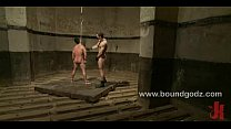 Gianni gets a suspension bondage fuck