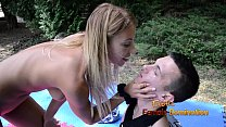Nikky humiliats slave by rubbing his face in th...