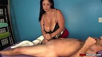 Busty Mature Cock Handjob