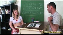 Lustful schoolgirl learns about fuck