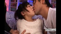 Subtitled uncensored spread Japanese AV devils threesome