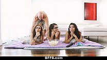 BFFS - Fooling around with my Step- Sister & Friends