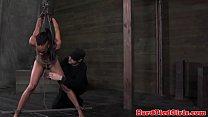 Strappado ebony sub Nikki Darling nt