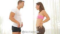FantasyHD - Fit Julia Roca tries doing yoga on a fat cock