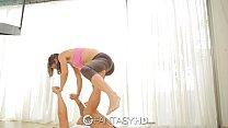 FantasyHD - Fit Julia Roca tries doing yoga on ...