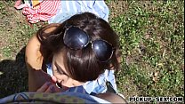 Eurobabe Suzy Rainbow banged in the park