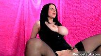 Horny UK babe Louise Jenson rides dick