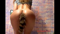 ... tail with plug anal put pussy and ass Gorgeous