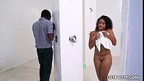 Ebony thight butt lass Deana Dulce with natural tits