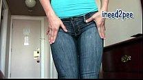 Asian Jasmine full bladder wetting her jeans & ...