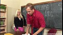 Busty blonde schoolgirl Briana Blair getting fu...