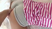 Horny chick Hollie Mack getting banged by large massive dick