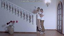 Hot blonde girl Violette gives oral satisfactio...