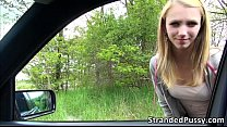 Beautiful Beatrix gets banged in the car