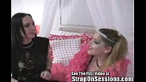 Goth Boy Chris Gets His First Butt Plug For His StrapOnSession
