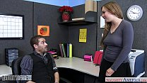 Busty office babe Tiff Bannister fucking
