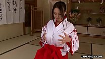 h... rubs kimono white and red a in asian Brunette