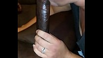 Sexy white wife sucking big black cock again