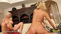 Blondes Emma Starr & Nicole Aniston sharing dick