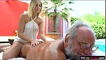 Russian blonde hottie Aria Logan give a massage...