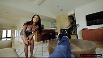 Tight stepsister sucks off and pounded by hard ...