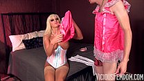 Rikki Sixx and her Chastity Pussy Eating Sissy