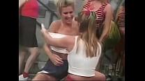 All white girl cheerleader orgy