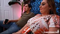cock huge by fucked and oiled gets m april bbw milf tit Big