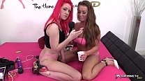 Licking and tasting young lesbian tight pussy