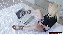 Cutie teen blonde stepsis Velvet Rain railed by stepbro