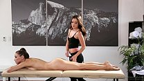 Celeste Star meets her masseuse fangirl Gia Paige - Fantasy Massage
