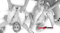 Blonde sluts Blanche Bradburry & Rossella Visconti play with big dildos & get DAP'ed SZ