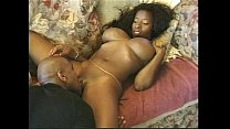 bed the on action in ebony tits Big