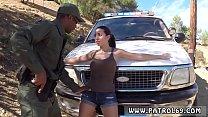 Ebony interracial pussy licking Latina Babe Fucked By the Law