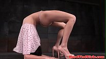 Flexible yoga submissive tiedup by maledom