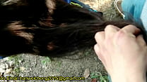 Exciting hairjob outside 001