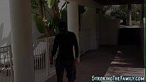Stepteen banged intruder