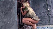 DP banged jail guard enjoys prisoner cocks