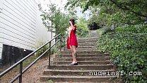 Nude in San Francisco: Hot Asian Girl Walks Na...