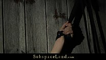Redhead slutty bondaged in the barn and sex-tamed