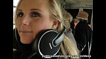 Blonde party girl loves outdoor fucking