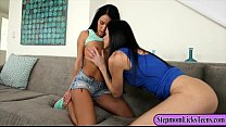 India Summer and Megan Rain pleasuring pussies on the couch