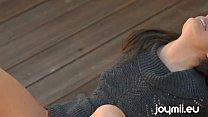 Joymii Renee Perez Masturbates Outdoor Deck