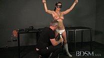BDSM XXX Bondage Master brings his cute asian s...