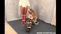 Punishing the naughty bound and gagged maids