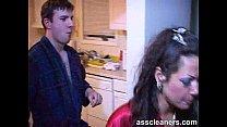 nasty girl demands an ass cleaning from her boyfriend
