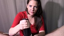 Azzurra is using a Fleshlight  blow job with a...
