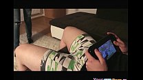 Dude Plays Wii U, While His GF Sucks His Cock. ...