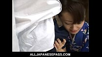 Mai Satsuki is a great geisha in a kimono that ...