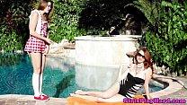 Gorgeous lesbian MILF spoils younger babe